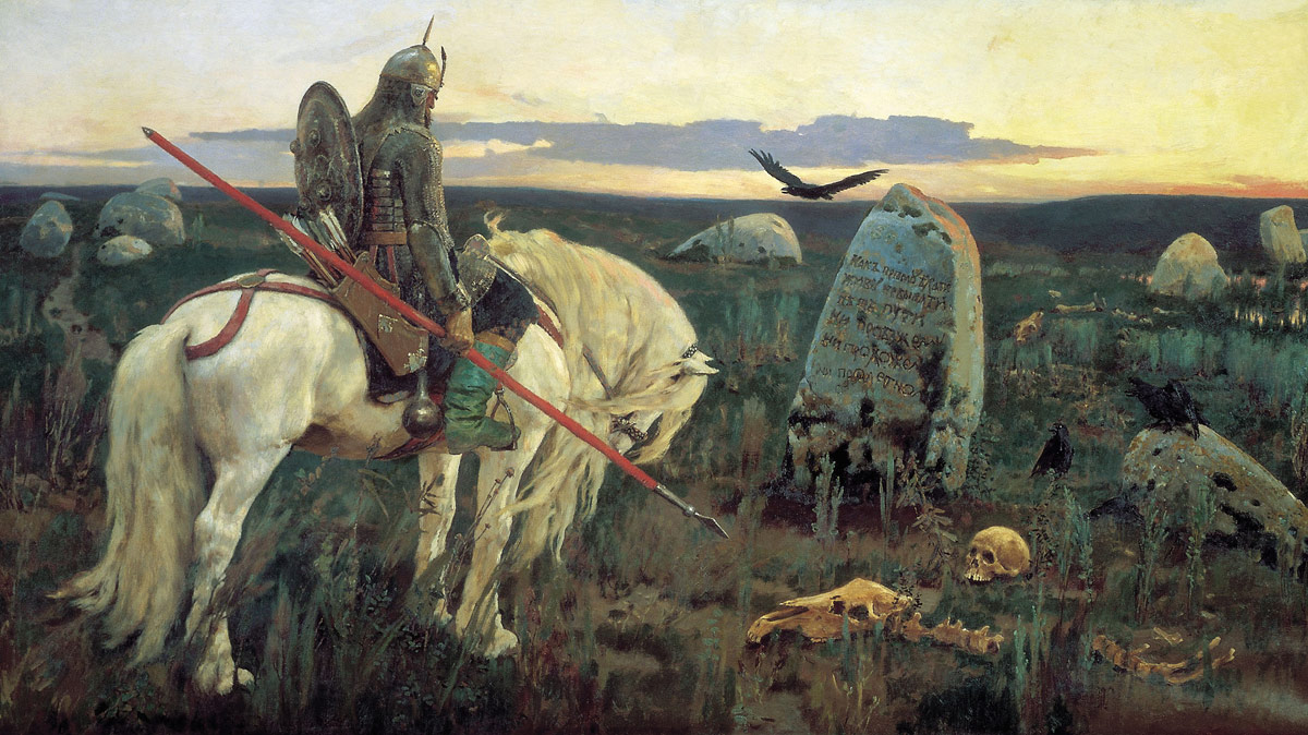vasnetsov a knight at the crossroads